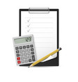 pencil calculator and notepad vector image