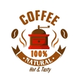 Retro coffee grinder icon for vintage cafe design vector image