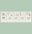 thin line flat design smart home concept vector image