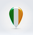 Irish icon point for map vector