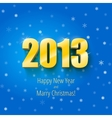 New year 2013 background gold numbers vector image vector image