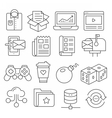Weblines icons pack collection vector image