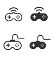 Game controller icon set vector image