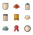 Tag icons set flat style vector image vector image