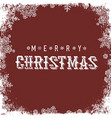 Merry Christmas Red Postcard Snowflakes white vector image vector image