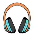 big headphones icon cartoon vector image