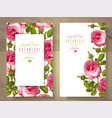 rose vertical banners vector image
