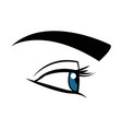cute female eye look vision design vector image