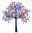 Colored tree with discount leaves vector image