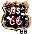 route 66 design vector image