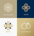 abstract logo design templates in trendy minimal vector image vector image