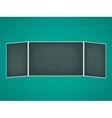School chalkboard folding vector image