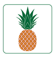 Pineapple with leaf icon color Tropical fruit vector image vector image