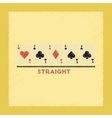 flat shading style icon cards straight vector image