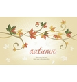 Autumn falling leaves background vector image