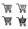 handcart icon set vector image