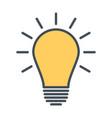light bulb icon idea sign thinking concept vector image