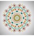 Ornamental round bright fashion pattern in aztec vector image