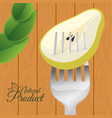 pear food natural product wooden background vector image