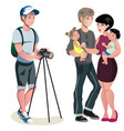 photo shoot young family vector image