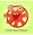 Stop Bacteria Cartoon No Virus vector image