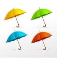umbrellas set vector image
