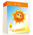 Wall tear off calendar summer vector image