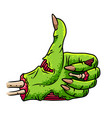zombie thumbs up isolated vector image