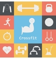 Set of Crossfit Icons Sport fitness gym vector image vector image
