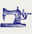 Old sewing machine vector image vector image