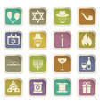 hannukah icon set vector image