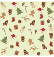 seamless merry christmas background vector image vector image
