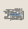 britain exit from european union brexit vector image