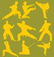 Karate Action Digital Clipart 2 vector image