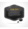 Abstract speech bubble black vector image vector image