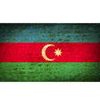 Flags Azerbaijan with dirty paper texture vector image