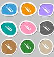 plug mini jack icon symbols Multicolored paper vector image