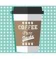 Take away coffee vector image