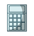 blue shading silhouette of calculator icon vector image