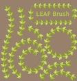 Leaf brushes vector image
