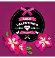 Poster Valentines SaleTypography vector image