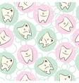 Seamless pattern baby teeth care vector image