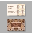 Vintage business cards with floral ornament vector image vector image
