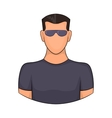 Man in glasses icon cartoon style vector image