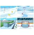 Cartoon set of backgrounds - sport infrastructure vector image