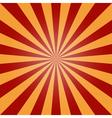 sun burst background red orange vintage vector image