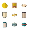 Label icons set flat style vector image vector image