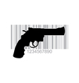 Gun barcode vector image vector image