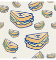 Background pattern of cheese sandwiches vector image vector image