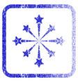 star burst fireworks framed textured icon vector image